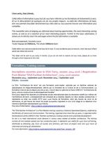 Newsletter n° 4, octobre 2013