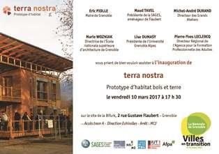 Inauguration du prototype d'habitat Terra Nostra à Grenoble