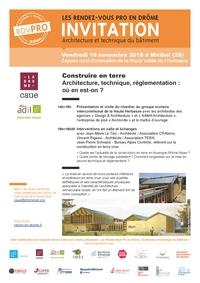 Rendez-vous pro en Drôme: construire en terre